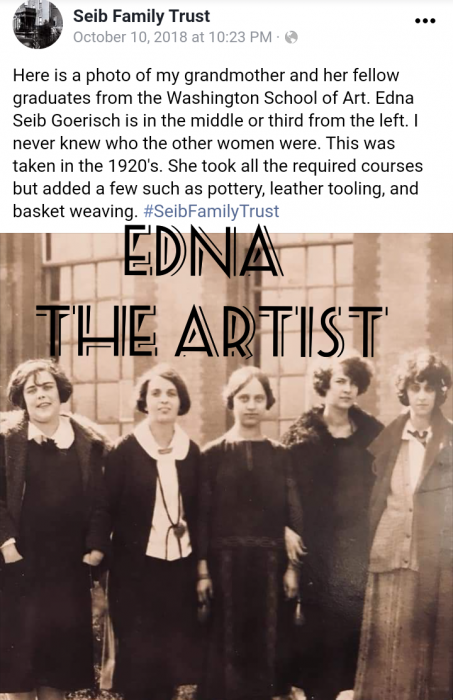 from the Seib Family Trust, Edna the Artist