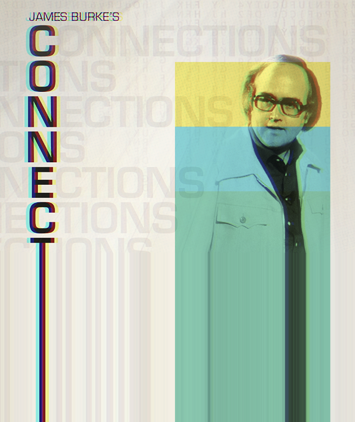 A psychedelic magazine cover featuring scientist James Burk